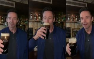 """WATCH: """"I've waited 50 years for this one."""" Hugh Jackman drinks Guinness for the first time on Irish soil"""