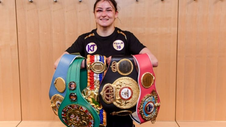 """Eddie Hearn heaps praise on Katie Taylor, calling her """"the role model"""""""