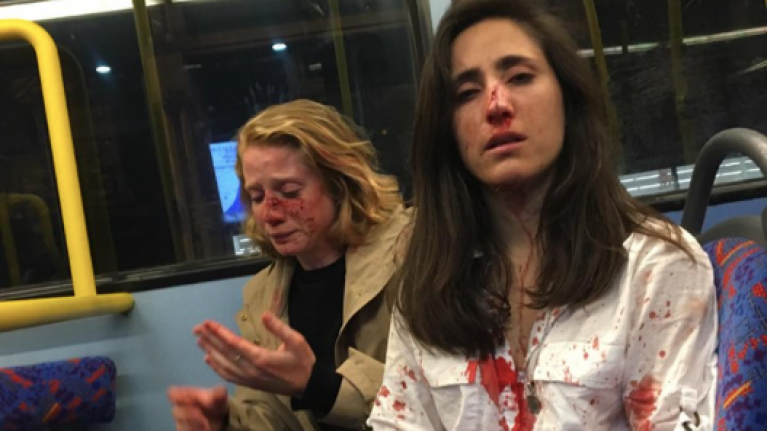 Couple on London bus attacked and beaten for refusing to kiss