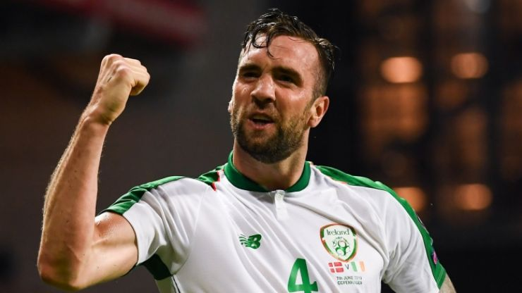 """Shane Duffy is right now everything for Ireland. His defence keeps us in it & when Denmark score, who steps up?"""