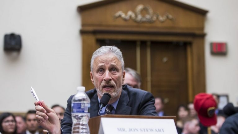 WATCH: Jon Stewart gives hugely emotional speech at Congress as 9/11 victim fund is set to expire