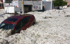 Freak hail shower in Mexico sees 1.5m of ice fall, burying cars and damaging houses