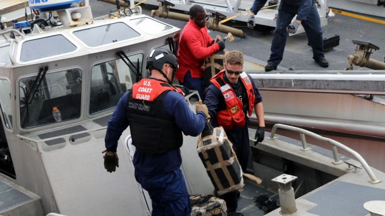 US Coast Guard offloads $569 million worth of cocaine and marijuana seized in international waters