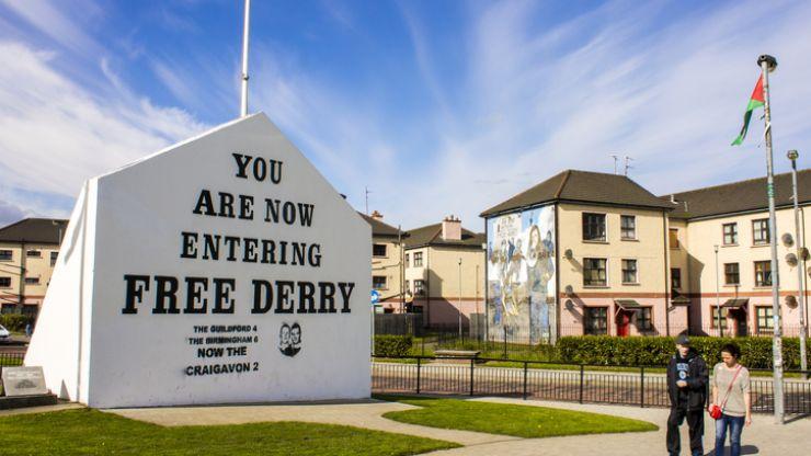 Free Derry Corner vandalised with Soldier F graffiti overnight