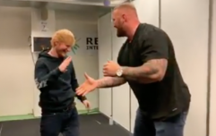WATCH: The Mountain from Game of Thrones lifts Ed Sheeran over his head like a rag doll