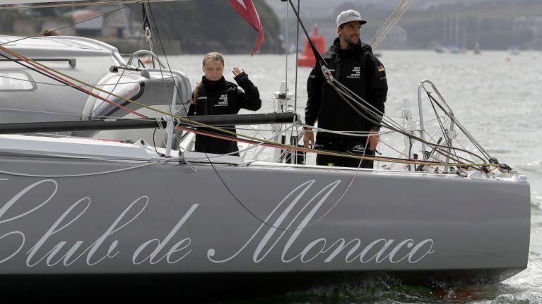 Greta Thunberg sets sail for New York on a zero emissions yacht