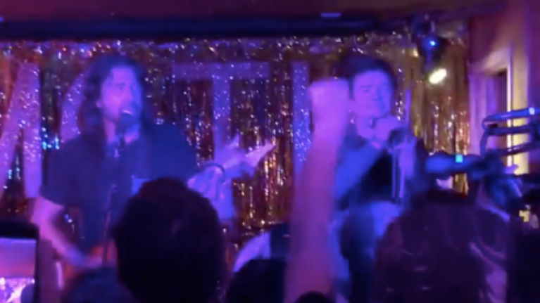WATCH: Dave Grohl and Rick Astley jammed together and it's everything you hoped for