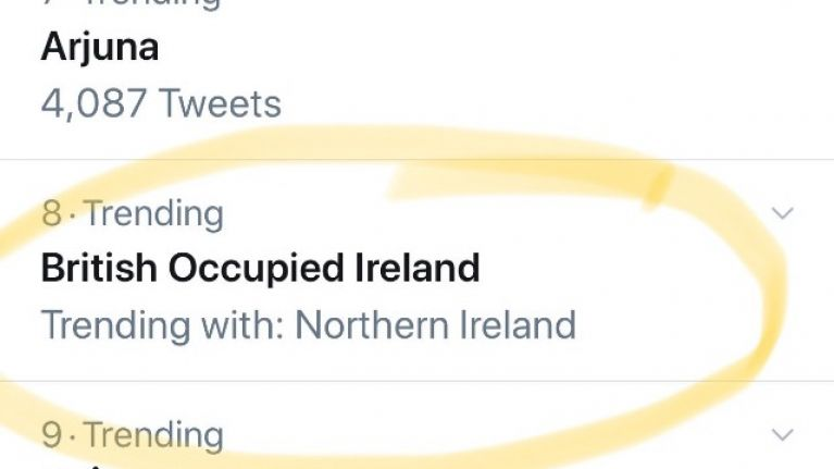 This is why the hashtag #BritishOccupiedIreland is trending on