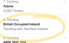This is why the hashtag #BritishOccupiedIreland is trending on Twitter in India
