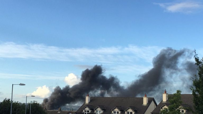 A large fire has broken out at a shopping centre in Cork