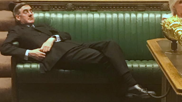 "WATCH: The moment Jacob Rees-Mogg was told to ""sit up"" in the House of Commons"