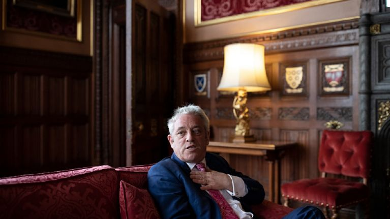 John Bercow, Speaker of the House of Commons, will resign by the end of October
