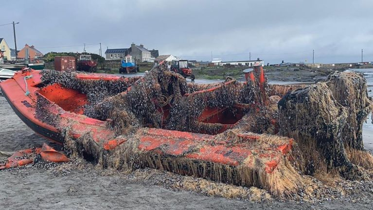 US Coast Guard vessel washes up close to the smallest of the Aran Islands