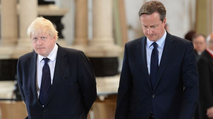 """David Cameron says Boris Johnson backed Brexit for his own career and """"didn't believe"""" in it"""