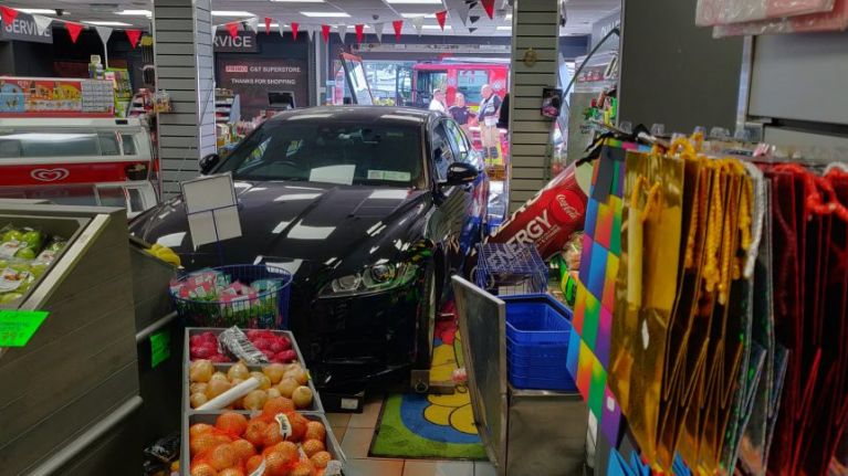 Man arrested as car smashes through shop window in Skerries