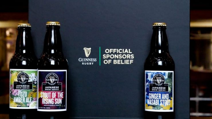 Guinness has announced three limited-edition brews ahead of Japan v Ireland
