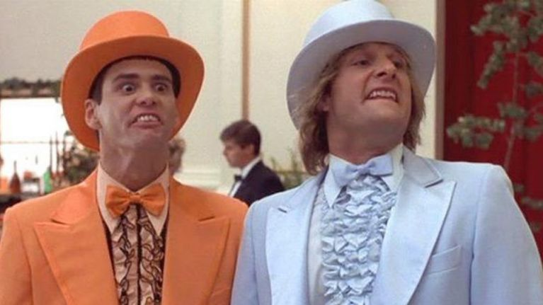 Aspen ski resort offering a 'Dumb And Dumber' package complete with tuxedos and moped