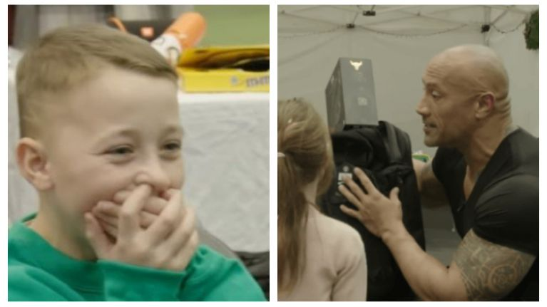 WATCH: Make-A-Wish foundation makes 9-year-old Kildare boy's dream of meeting The Rock come true