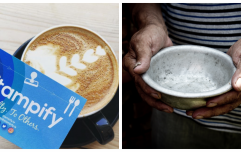 Earning stamps on this loyalty card will help fight world hunger