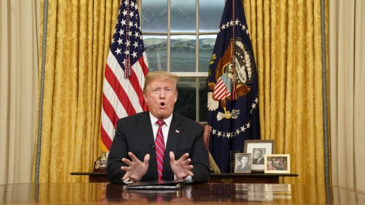 WATCH: President Trump's first address to the nation from the Oval Office in full