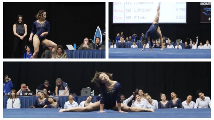 WATCH: Gymnast gets perfect 10 for this absolutely incredible floor routine