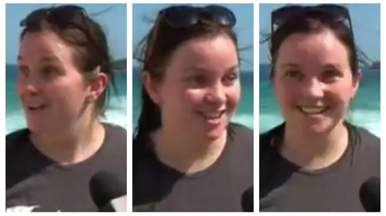 WATCH: Irish lady in Australia has most Irish reaction to the news that a great white shark is near the beach