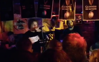 WATCH: Lewis Capaldi's intimate pub gig in Dublin on Sunday night looked class