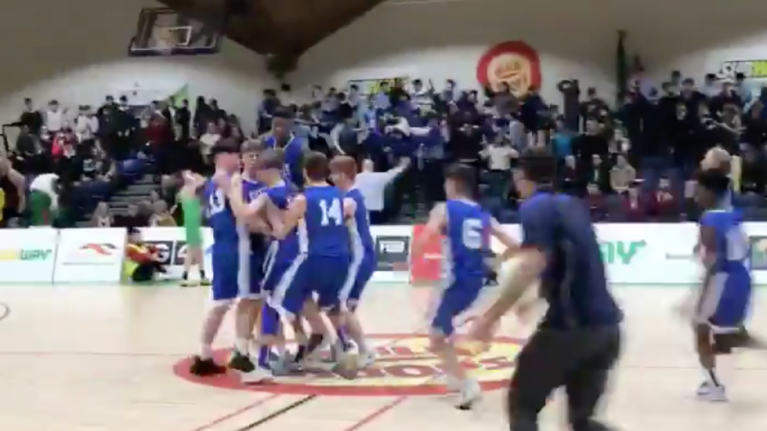 WATCH: There was some serious drama at the end of the Schools Cup basketball final