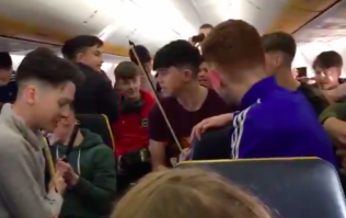 WATCH: Irish students put on a cracking trad performance during a flight