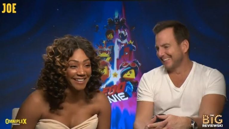 WATCH: Will Arnett and Tiffany Haddish on meeting the REAL Batman