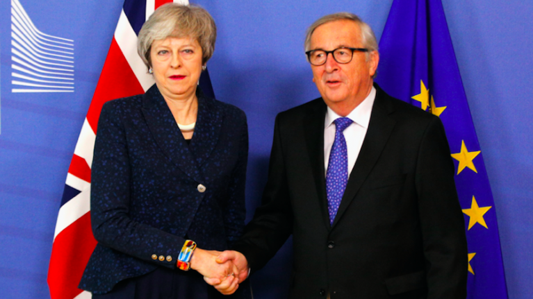 Jean-Claude Juncker tells Theresa May her Brexit deal is not open to renegotiation