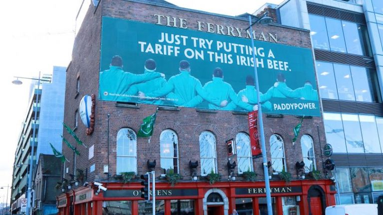 PICS: Paddy Power double down on their England slagging with huge billboards all across Dublin