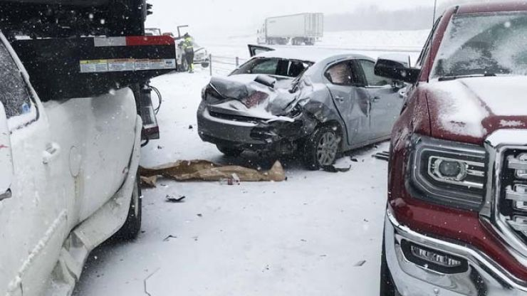 WATCH: Shocking video of a reported 47-car pile-up near Kansas City