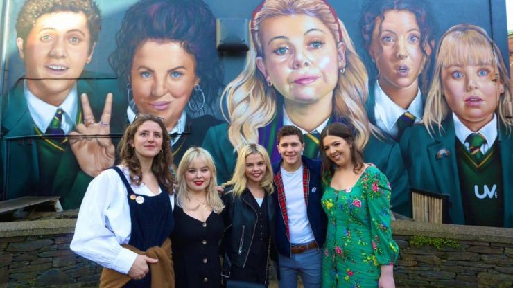 "WATCH: ""Derry Girls is the closest I've seen to a hard border"" says audience member at Claire Byrne Live"