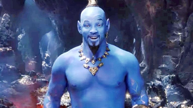 #TRAILERCHEST: Take a look at big blue Will Smith as Genie in Disney's first trailer for Aladdin