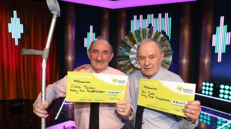 Two west of Ireland farmers share €75,000 Winning Streak prize weeks after both had hip replacements