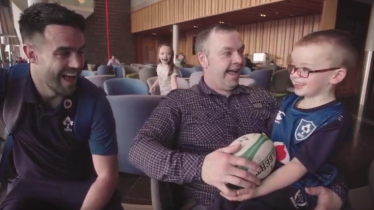WATCH: Young Irish rugby fan meets the team in lovely video