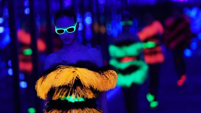 Glow-in-the-dark fashion might be 2019's biggest new trend