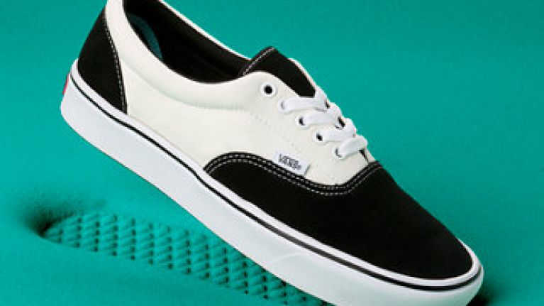 People are throwing their Vans shoes at the floor as part of an online challenge