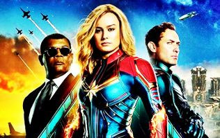 COMPETITION: Win this limited edition Captain Marvel poster signed by Brie Larson, Samuel L. Jackson & Jude Law