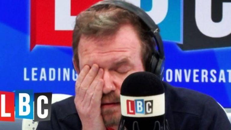 WATCH: James O'Brien enters 'total despair' mode after caller's latest dumb idea to solve Irish border