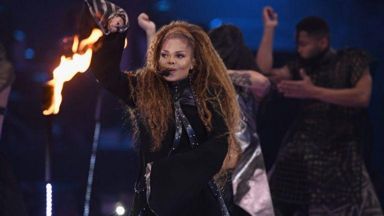 Janet Jackson mocked for photoshopping herself higher on Glastonbury poster