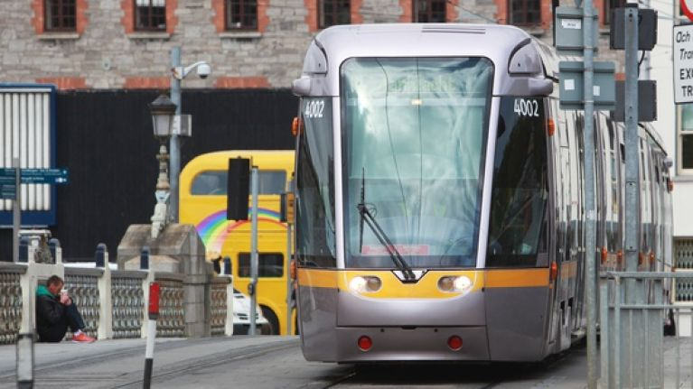 Man has died after being struck by Luas in Kingswood