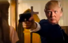 Fake video of Donald Trump shooting media and opponents shown at president's resort