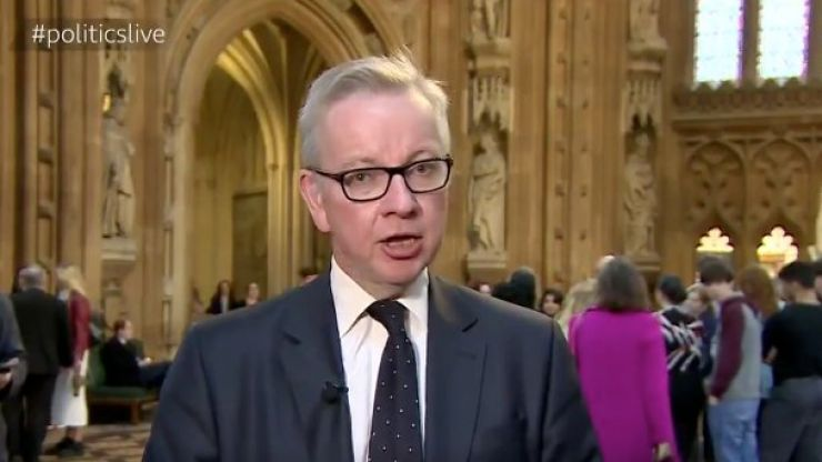 Here's Michael Gove trying to be cool and failing miserably