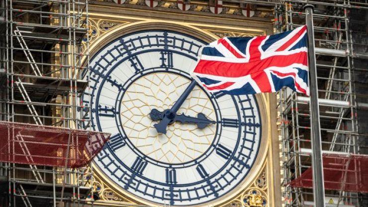 Extinction Rebellion protestor dresses up as Boris Johnson and scales Big Ben scaffolding in London