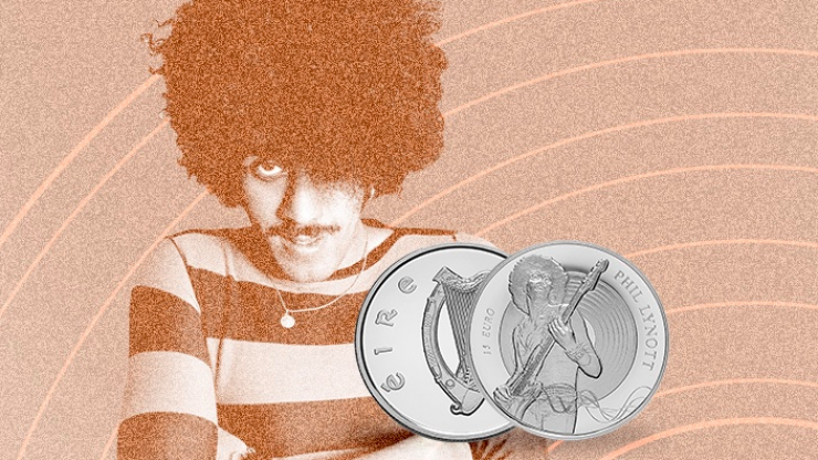 Phil Lynott €15 commemorative coin to go on sale