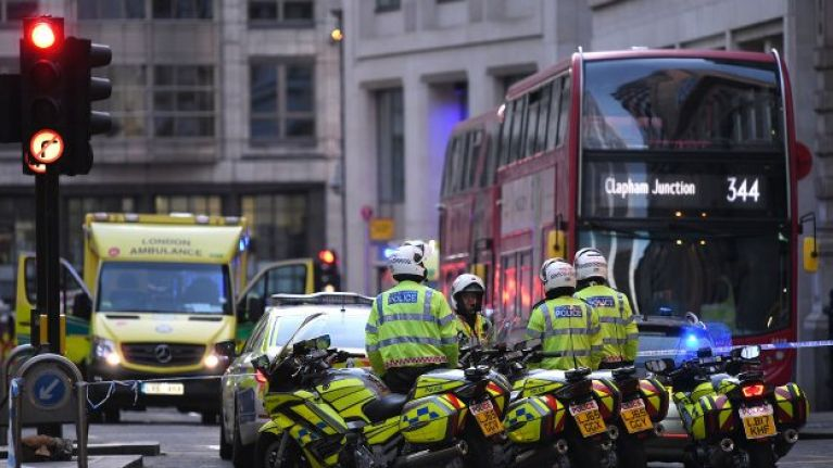 Man shot dead by police following number of stabbings in London