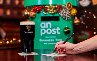 Guinness are turning beermats into postcards for the Christmas season