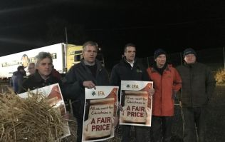 Irish Farmers' Association stage blockade at Lidl distribution centre in Cork